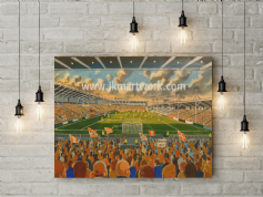 bloomfield road  canvas a2 size